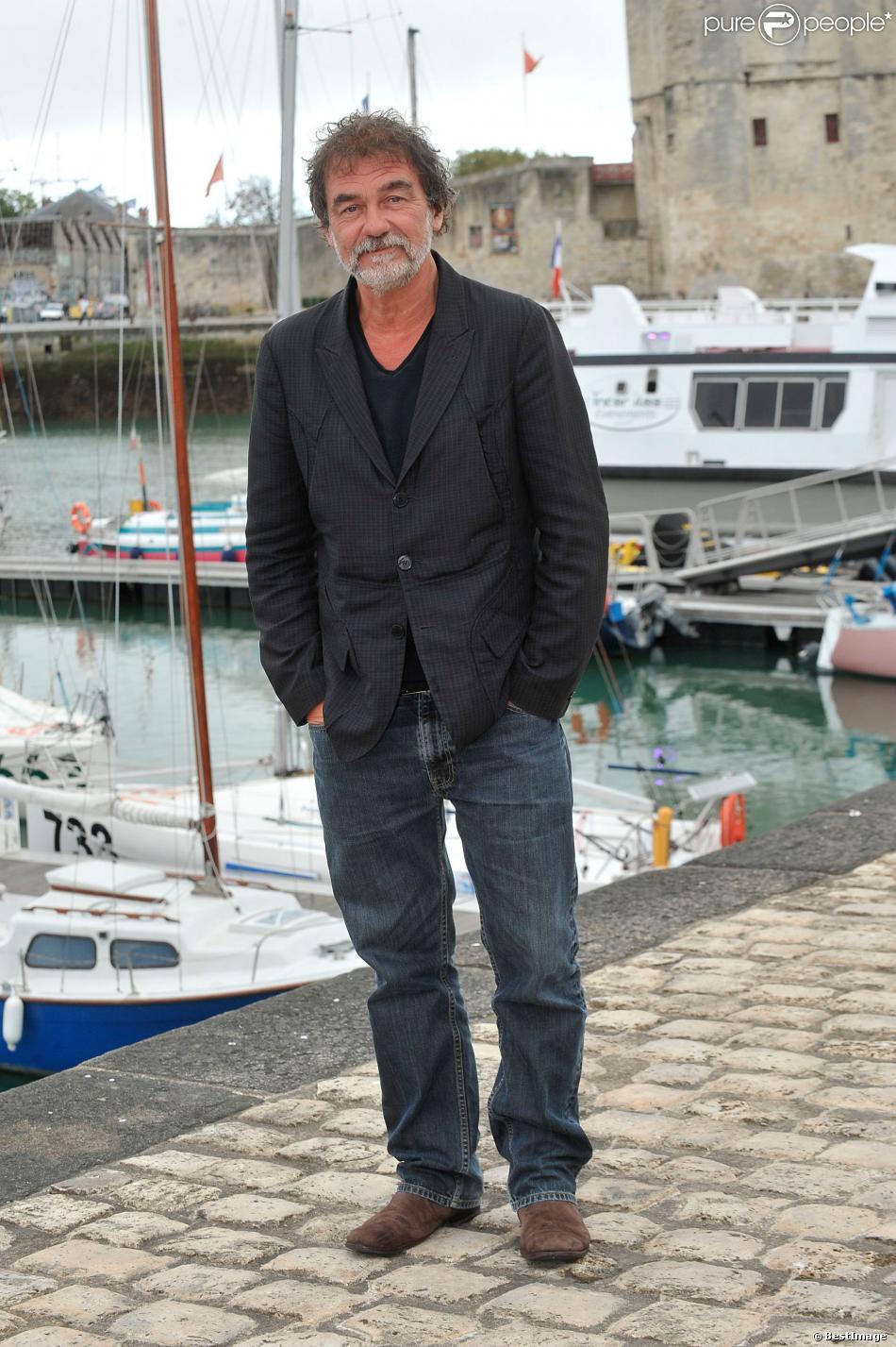 """Olivier Marchal pose pour le photocall du téléfilm """"Vaugand"""" lors du 15e Festival de La Fiction TV de La Rochelle le 13 septembre 2013"""