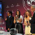 Marion Bartoli lors du tirage au sort du Qatar Prix de l'Arc de Triomphe à Longchamp à Paris, le 4 octobre 2013