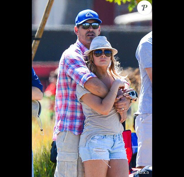 LeAnn Rimes et Eddie Cibrian jouent aux supporters. Mason, le fils de l'acteur, est en plein match, à Los Angeles, le samedi 5 octobre 2013.