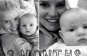 Jessica Simpson, fière maman, pose avec Ace, 3 mois