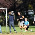 Exclusif - Thomas Vergara, le compagnon de Nabilla Benattia, fait sa séance de sport au bois de Boulogne, le 8 octobre 2013.