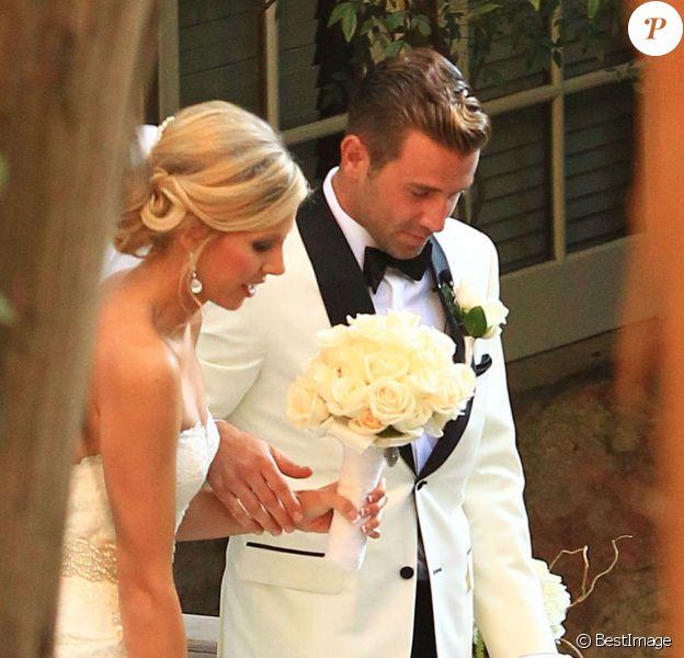 Exclusif : Mariage de Jason Wahler et Ashley Slack au ranch Calamingos à Malibu, le samedi 12 octobre 2013.