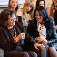 """Claudia Cardinale et Déborah Dahan lors du 20e gala annuel de charité """"Faire Face"""" organisé à l'Opéra d'Avignon, le 12 octobre 2013."""
