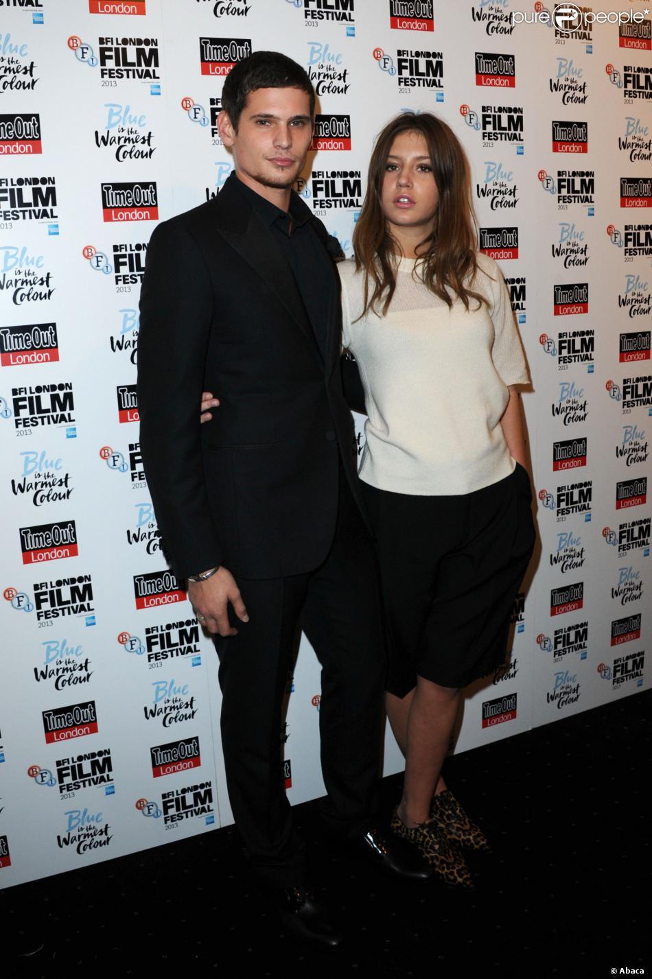 Jérémie Laheurte et Adèle Exarchopoulos lors de la première de Blue Is The Warmest Colour (La Vie D'Adèle) au BFI Film Festival, Curzon Mayfair, Londres, le 14 février 2013.