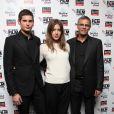 Jérémie Laheurte, Adèle Exarchopoulos et Abdellatif Kechiche lors de la première de Blue Is The Warmest Colour (La Vie D'Adèle) au BFI Film Festival, Curzon Mayfair, Londres, le 14 février 2013.