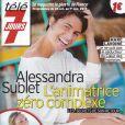 Alessandra Sublet en couverture de Télé 7 Jours en kiosques le 21 octobre 2013