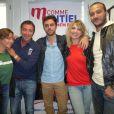 Bernard Montiel reçoit Amanndine Bourgeois, Leslie, Merwan Rim et Bastien Lanza dans son émission M comme Montiel, le samedi 19 octobre 2013.