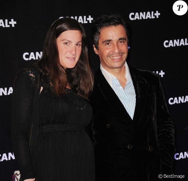 Ariel Wizman et sa compagne Osnath Assayag lors de lasoirée de rentrée Canal+ organisée à Paris, le 28 août 2013.