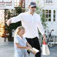 Ben Affleck et sa fille Violet à Los Angeles, le 24 octobre 2013.