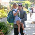 Ben Affleck va chercher sa fille Violet à l'école à Santa Monica, le 24 octobre 2013.