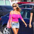 Shauna Sand sur le tournage d'Hollywood Girls 3, le 7 août 2013 à Los Angeles
