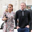 Coleen et Wayne Rooney à Manchester le 20 août 2013