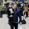 Wayne Rooney et son fils Kai le 14 mars 2013 à Manchester