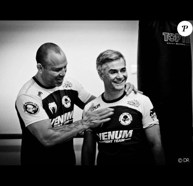 Cyril Viguier avec Vanderiei Silva la légende de l'UFC.