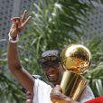 Chris Bosh lors de la parade du titre à Miami, le 24 juin 2013