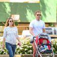 Drew Barrymore, son mari Will Kopelman et leur fille Olive à New York le 28 septembre 2013