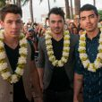 Les Jonas Brothers à l'avant-première de Hawaii 5-0 à Hawaii, le 27 septembre 2013.