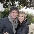 Exclusif - Véronique Jannot et Lionnel Astier arrivant lors de l'enregistrement de l'émission Vivement dimanche à Paris le 6 novembre 2013. Diffusion sur France 2 le 10 novembre
