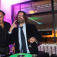 """Dj Cut Killer et Frederic Beigbeder - Soiree """"Prix De Flore 2013"""" au Cafe de Flore a Paris, le 7 novembre 2013.07/11/2013 - Paris"""