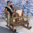 Marine Lorphelin découvre le Noël Enchanté des parcs Disneyland Paris, à Marne-la-Vallée, le 9 novembre 2013.