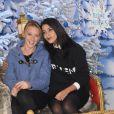Ludivine Sagnier et Leïla Bekhti découvrent le Noël Enchanté des parcs Disneyland Paris, à Marne-la-Vallée, le 9 novembre 2013.