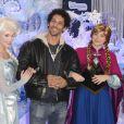 Tomer Sisley découvre le Noël Enchanté des parcs Disneyland Paris, à Marne-la-Vallée, le 9 novembre 2013.