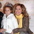 Lara Fabian, Gérard Pullicino et leur fille Lou à Paris le 1er avril 2012.