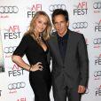 Christine Taylor et son mari Ben Stiller à la première de La vie rêvée Walter Mitty à Los Angeles le 13 novembre 2013.