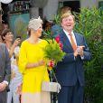 Le roi Willem-Alexander et la reine Maxima des Pays-Bas en visite sur l'île de Saba dans les Caraïbes le 15 novembre 2013