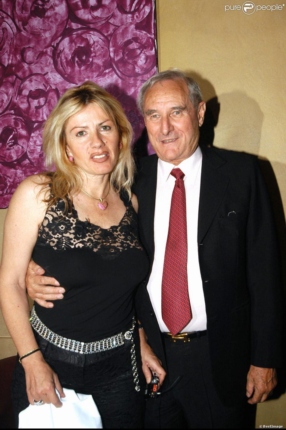 Gérard de Villiers avec son épouse Christine pour son anniversaire à Paris le 1er juillet 2013.
