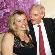 Gérard de Villiers avec son épouse Christine pour son anniversaire avec Tony Gomez à Paris le 1er juillet 2013.