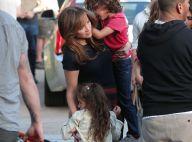 Jennifer Lopez, en plein tournage : Pause câline avec ses adorables Max et Emme