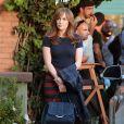 """Jennifer Lopez sur le tournage du film """"The Boy Next Door"""" à Los Angeles, le 17 novembre 2013."""