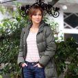 """Jennifer Lopez sur le tournage de """"The Boy Next Door"""" à Hollywood, le 12 novembre 2013."""