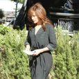 """Jennifer Lopez sur le tournage de """"The Boy Next Door"""" à Los Angeles, le 11 novembre 2013."""
