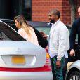 Kim Kardashian et son fiancé Kanye West à New York, le 17 novembre 2013.