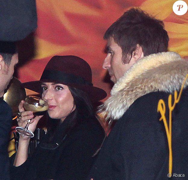 Liam Gallagher et Debbie Gwyther à Manchester, le 17 novembre 2013.