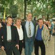 Michael Palin, Terry Jones, John Cleese et Terry Gilliam lors d'une projection de La Vie de Brian le 7 octobre 1999