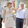 Le roi Willem-Alexander et la reine Maxima des Pays-Bassur l'île d'Aruba le 21 novembre 2013.