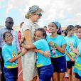 La reine Maxima des Pays-Bas sur l'île d'Aruba le 21 novembre 2013.