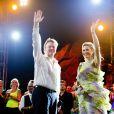 Le roi Willem-Alexander et la reine Maxima des Pays-Bassur l'île d'Aruba le 20 novembre 2013.