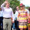 Le roi Willem-Alexander et la reine Maxima des Pays-Basà Curaçao le 19 novembre 2013.
