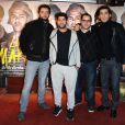 Nader Boussandel, Jamel Debbouze, M'Barek Belkouk et Tewfik Jallab à la première du film La Marche à Rosny, le 23 novembre 2013.