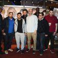 Still Fresh, Nabil Ben Yadir, Jamel Debbouze, Nader Boussandel, Djaidja Toumi, M'Barek Belkouk, Tewfik Jallab et Sadek à la première du film La Marche à Rosny, le 23 novembre 2013.