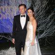 Colin Firth et Livia Giuggioli à l'ocassion du second Winter Whites Gala de Centrepoint qui se tenait au palais de Kensington à Londres, le 26 novembre 2013.