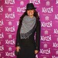 """Laurence Roustandjee à la représentation du nouveau spectacle du Cirque du Soleil, """"Kooza"""", sur l'ïle Seguin à Boulogne-Billancourt, le 26 novembre 2013."""
