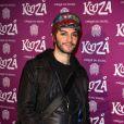 """Mikelangelo Loconte à la représentation du nouveau spectacle du Cirque du Soleil, """"Kooza"""", sur l'ïle Seguin à Boulogne-Billancourt, le 26 novembre 2013."""