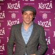 """Taig Khris à la représentation du nouveau spectacle du Cirque du Soleil, """"Kooza"""", sur l'ïle Seguin à Boulogne-Billancourt, le 26 novembre 2013."""