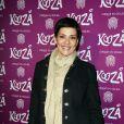 """Cristina Cordula à la représentation du nouveau spectacle du Cirque du Soleil, """"Kooza"""", sur l'ïle Seguin à Boulogne-Billancourt, le 26 novembre 2013."""