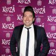 """Chris Marques à la représentation du nouveau spectacle du Cirque du Soleil, """"Kooza"""", sur l'ïle Seguin à Boulogne-Billancourt, le 26 novembre 2013."""